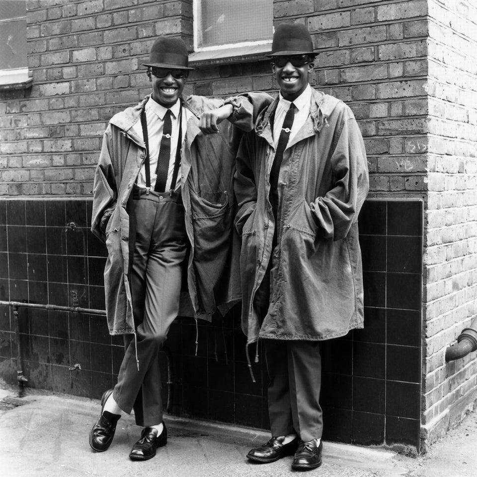 Chuka and Dubem Okonkwo, rude boy teenage twins from Islington, London. London, 1979