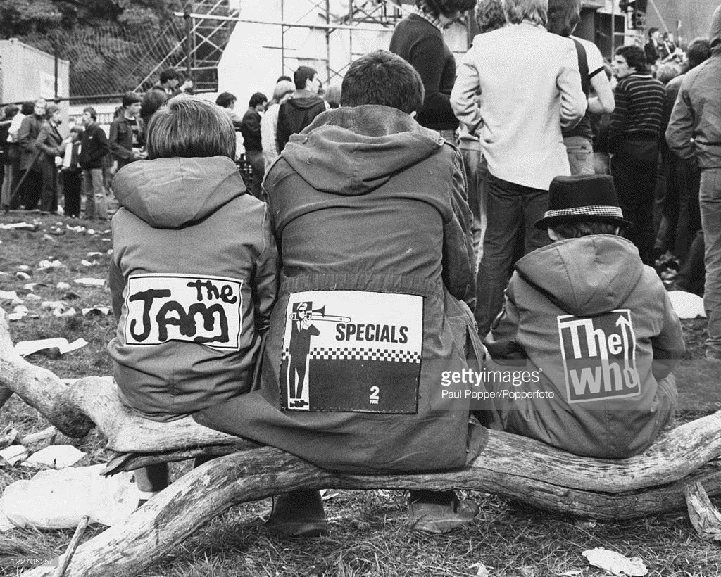 Three mods at the Loch Lomond Rock Festival, Scotland, '80