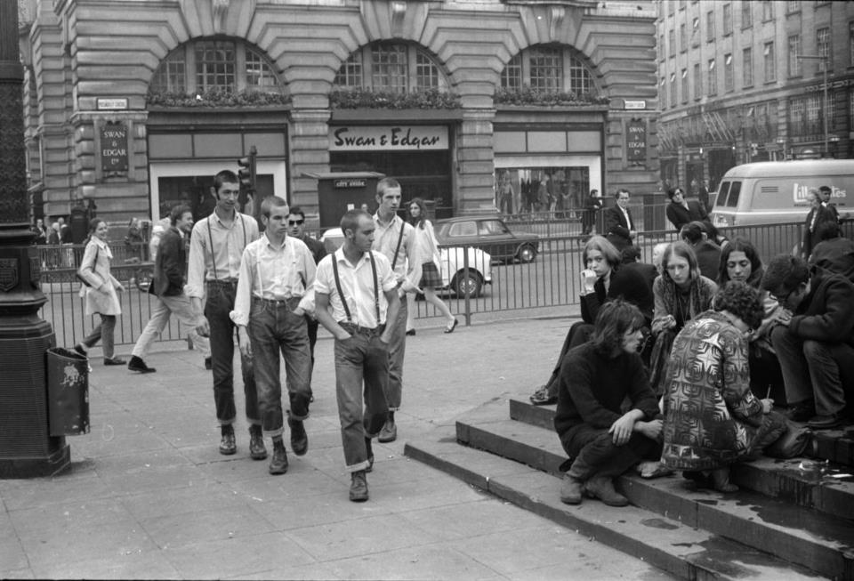 Skinheads Piccadilly Circus Londra 1969