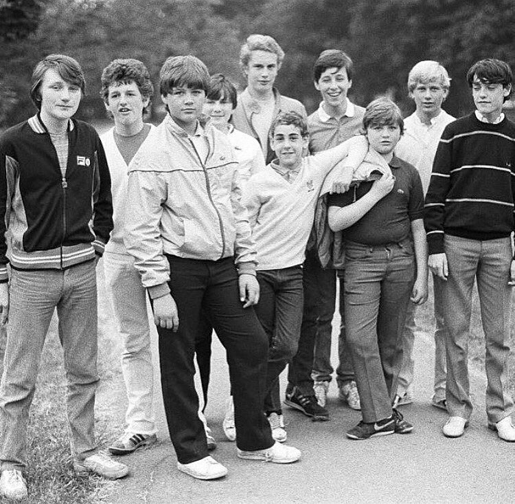 Young football casuals, Wanstead, 1983