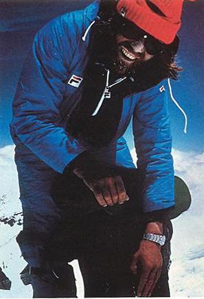 Messner sulla cima dell'Everest