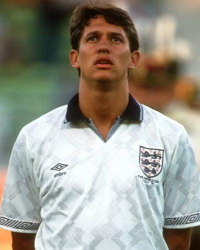 Con la maglia della nazionale Inglese