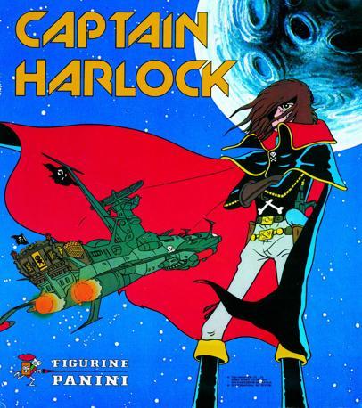 """""""Capitan Harlock""""  (1979) uno dei primi cartoni animati diventato album di figurine"""