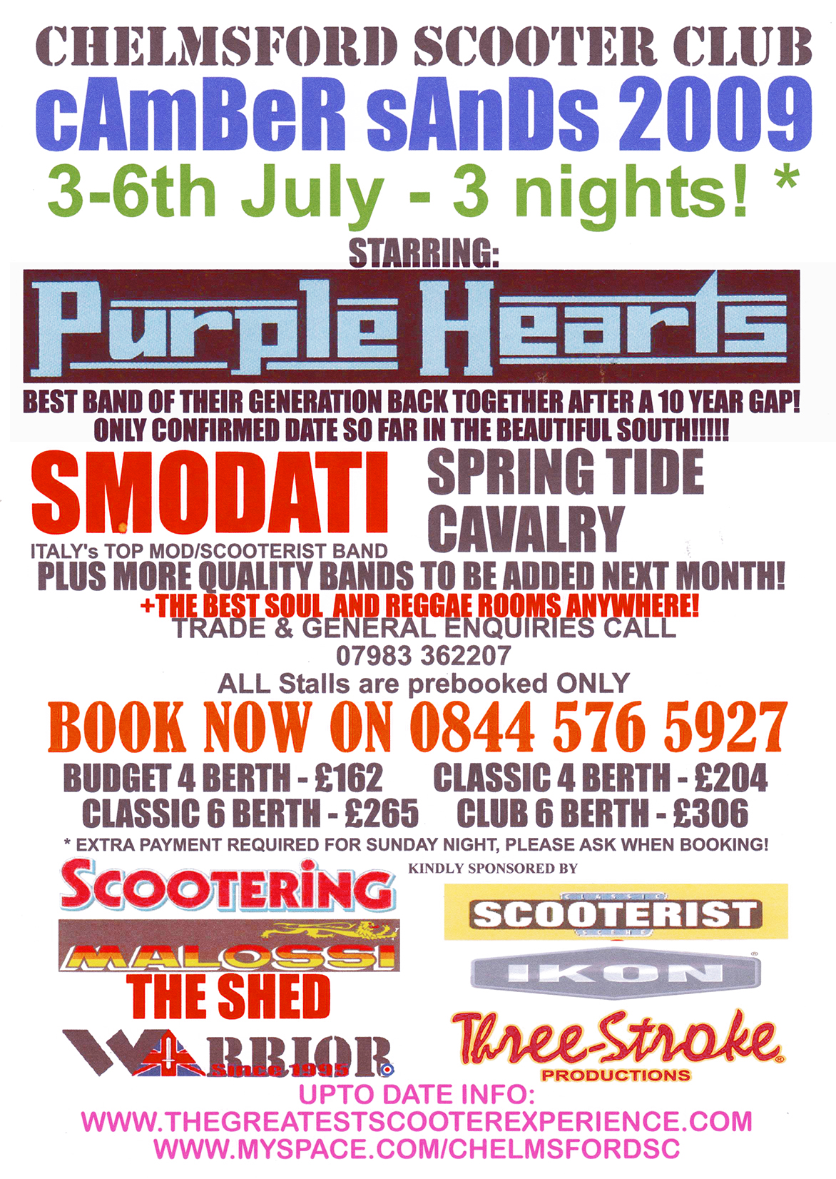 Camber Sand raduno scooterista da notare Smodati e Purple Hearts