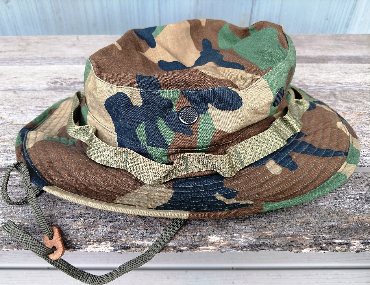 U.S. Army issue boonie hat in the BDU camouflage pattern, circa 1994