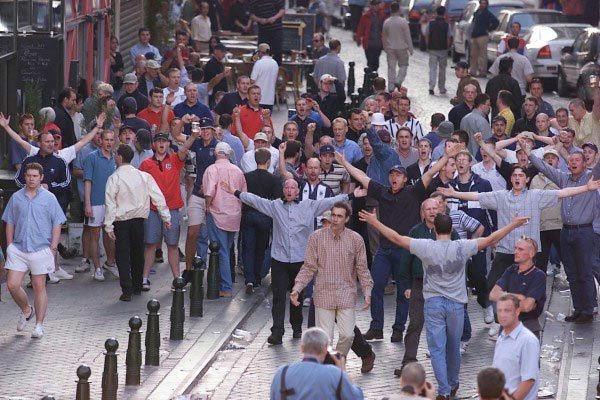 Un fantastica foto degli inglesi a Euro 2000
