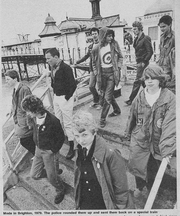 mods in Brighton 1979